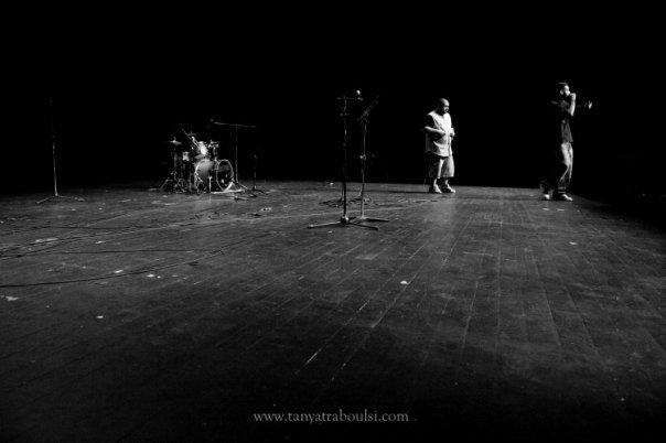 Palestinian crew I-Voice at Masrah al Madina in Beirut 2009. Lens: Tanya Traboulsi©