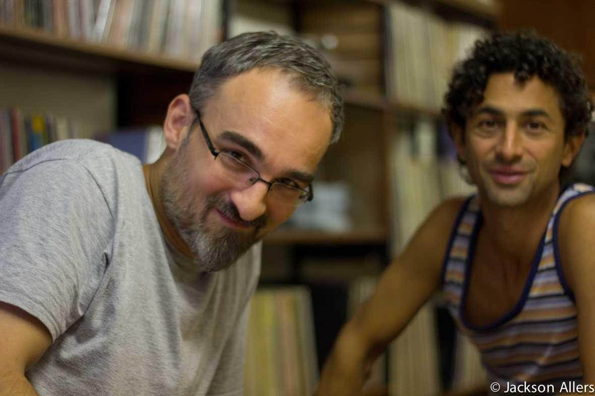 The man behind Chico - Diran Mardirian (left) and DJ/producer Nickodemus.
